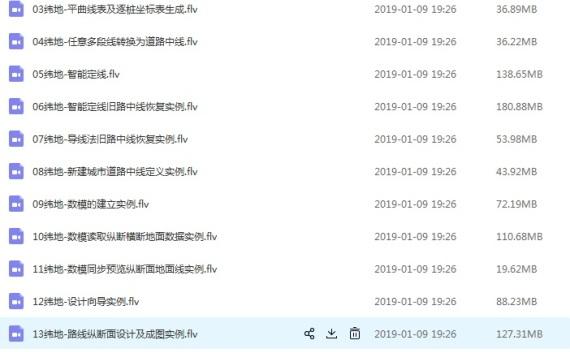 纬地道路7.2基础培训视频教程百度网盘下载