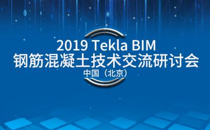 2019 Tekla BIM 钢筋混凝土