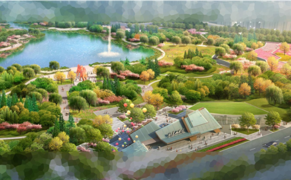 天津北辰堆山公园景观设计方案