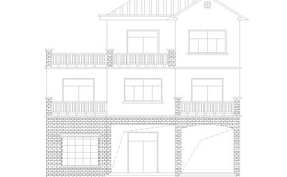 农村自建房三层独栋别墅建筑设计施工图