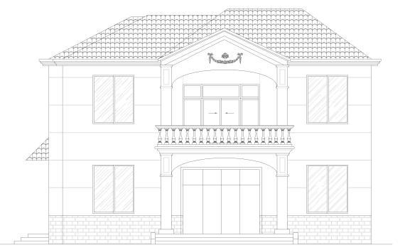 农村自建房二层独栋别墅建筑设计施工图