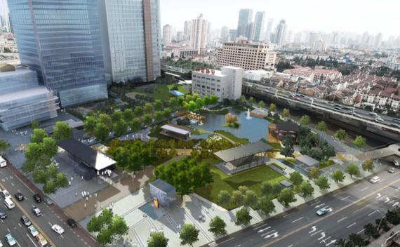 [上海]现代风格下沉式广场改造景观方案设计