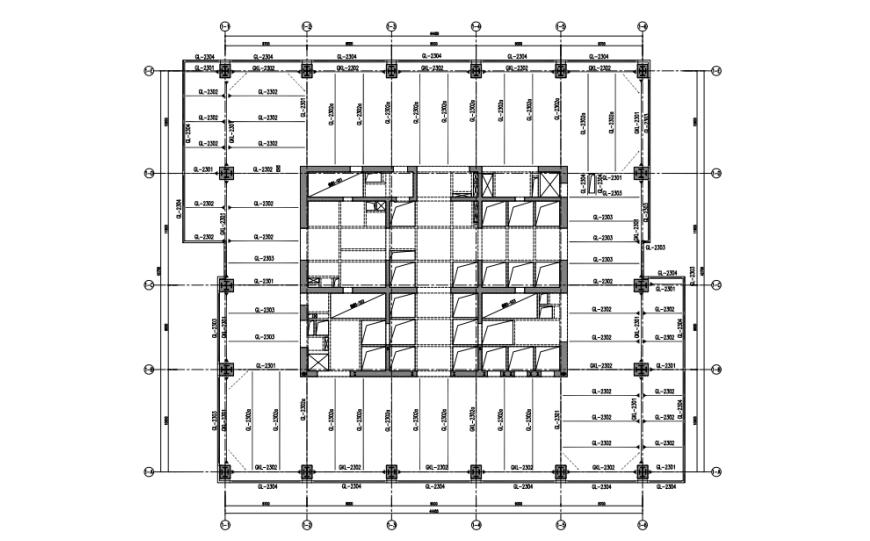 02 标准楼层平面布置示意
