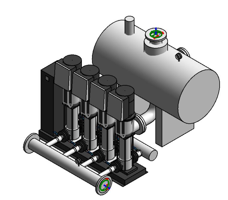 全变频供水设备水泵Revit族文件-全变频供水设备
