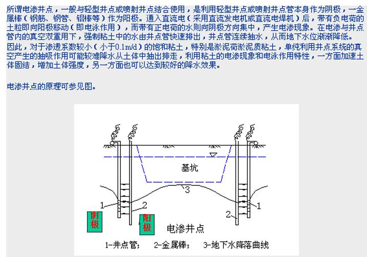 地基处理与防护工程定额及工程量计算PPT-08 电渗井点