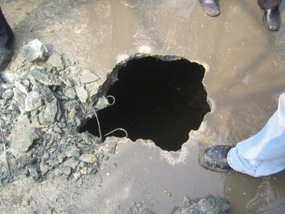 建筑工程基坑风险及质量控制措施-地面坍塌