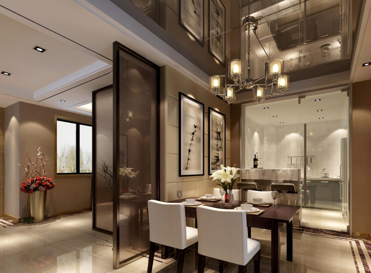 现代简约149㎡3室2厅2卫住宅装修施工图设计-效果图】