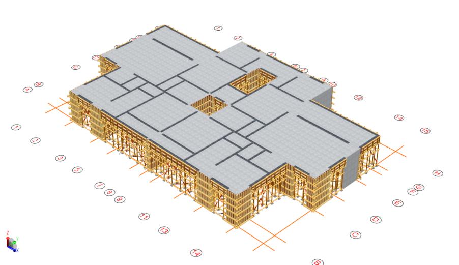 6层洋房模板及支撑体系安全专项施工方案-03 标准层模板搭设效果图