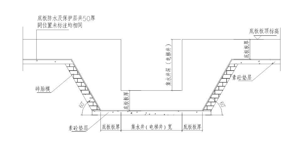 6层洋房模板及支撑体系安全专项施工方案-05 电梯基坑、集水坑砖胎模大样