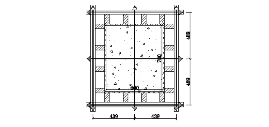 6层洋房模板及支撑体系安全专项施工方案-06 柱模板设计示意图