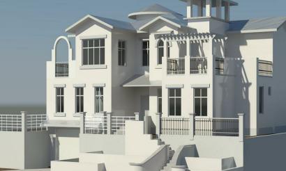 BIM模型-revit模型-双层带车库别墅模型