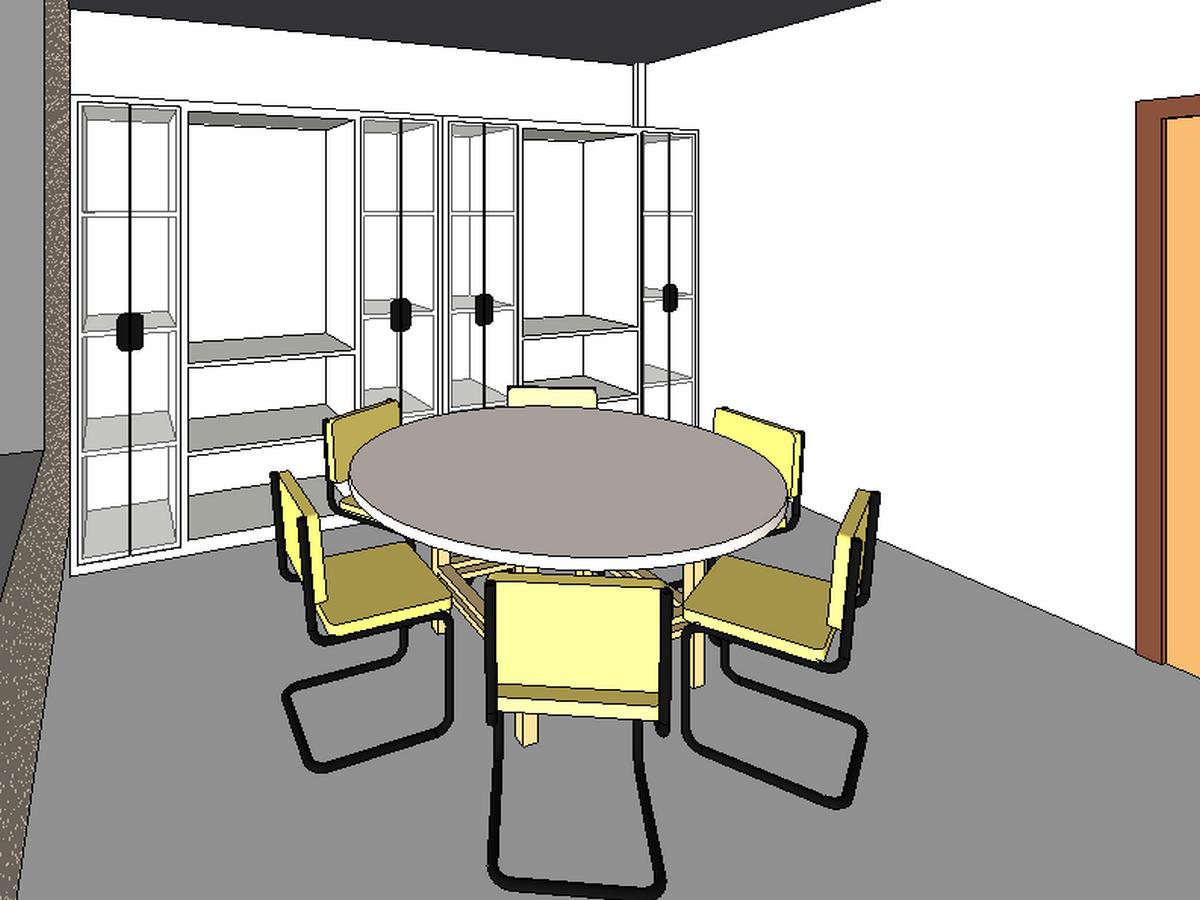BIM模型-revit模型-三层小别墅模型-6三层小别墅餐厅