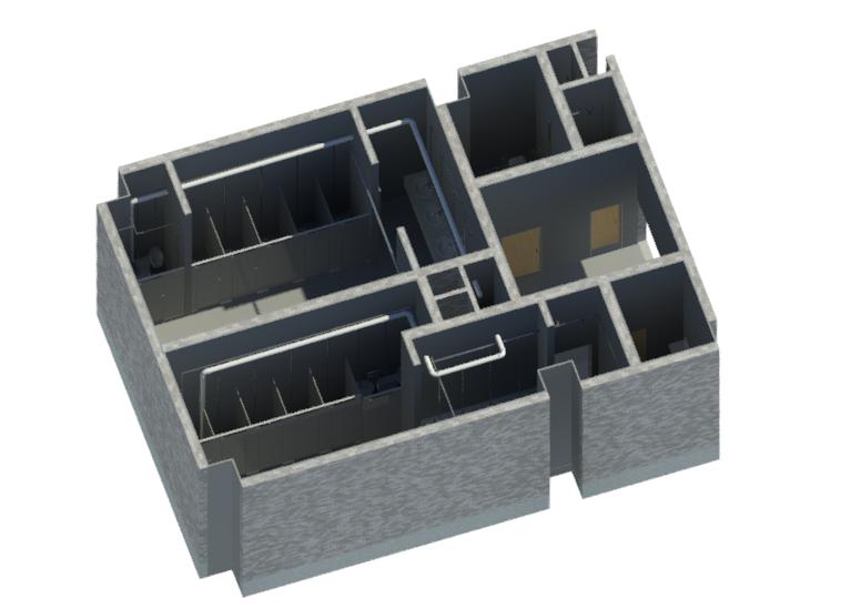 BIM卫生间标准模块Revit模型(Rvt)