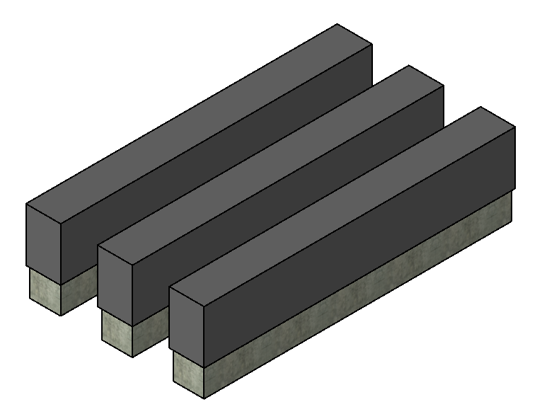 BIM结构设备基础标准构件单元族(Rfa)