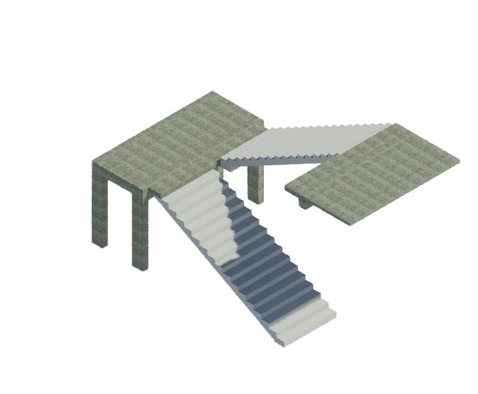 BIM结构单层楼梯标准构件单元模型(Rvt)-ST_二跑楼梯_标准层_5.1m_2x17_280x150