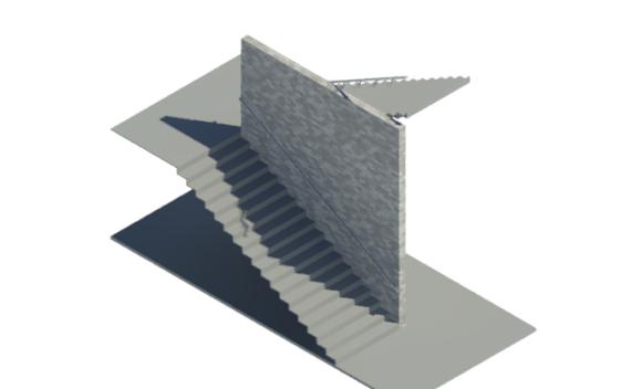 BIM商业建筑楼梯标准构件单元模型(Rvt)