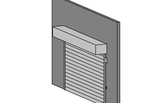BIM商业建筑卷帘门标准构件单元族(Rfa)