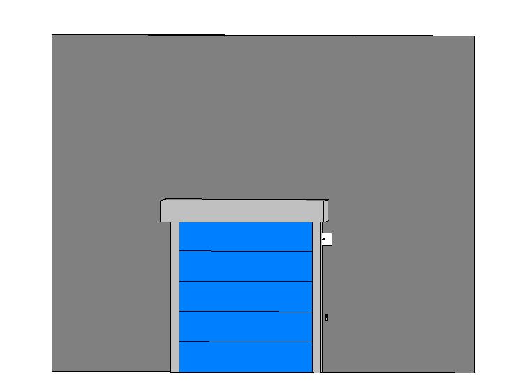 BIM商业建筑卷帘门标准构件单元族(Rfa)-防火卷帘