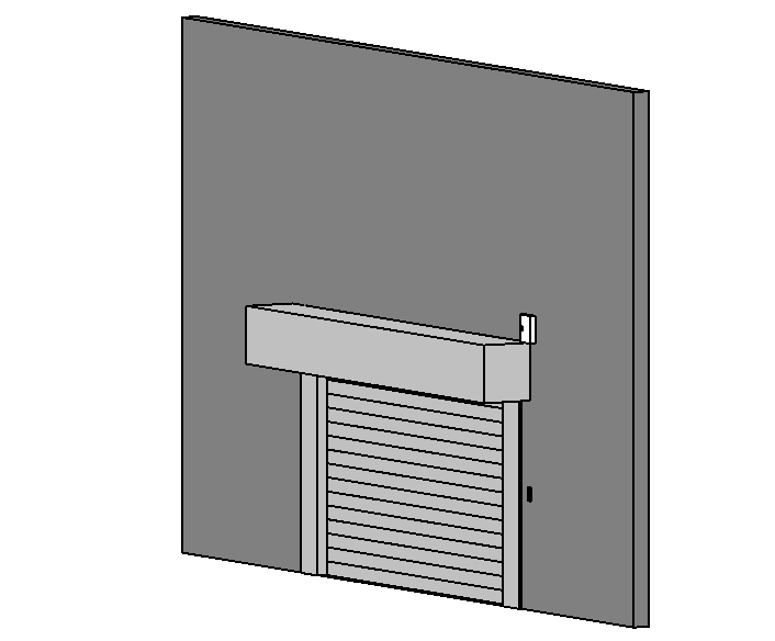 BIM商业建筑卷帘门标准构件单元族(Rfa)-防盗卷帘