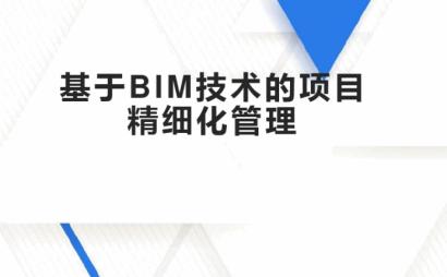 基于BIM技术的项目精细化管理案例(53页)