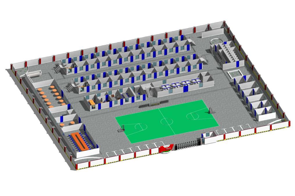 房建项目标准化80人规模四合院Revit模型_1