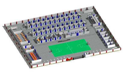 房建项目标准化80人规模四合院Revit模型