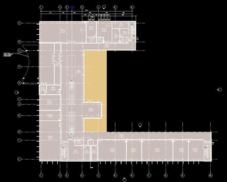多层办公楼revit模型_4