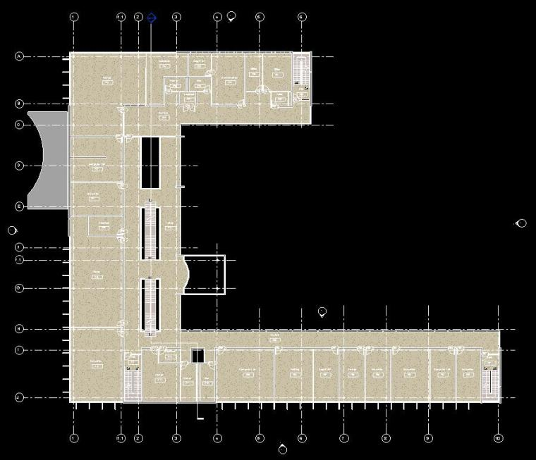 多层办公楼revit模型_5