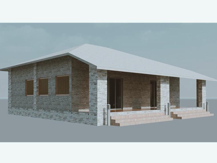 单层住房revit模型_1