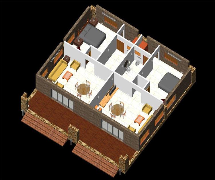 单层住房revit模型_2