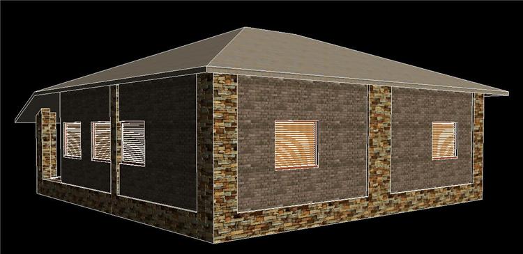 单层住房revit模型_3