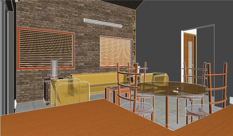 单层住房revit模型_4