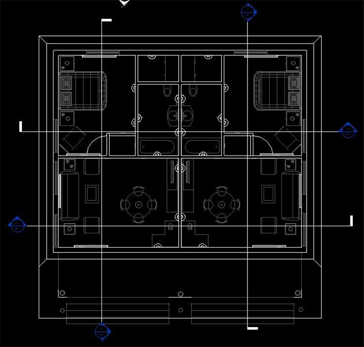 单层住房revit模型_5