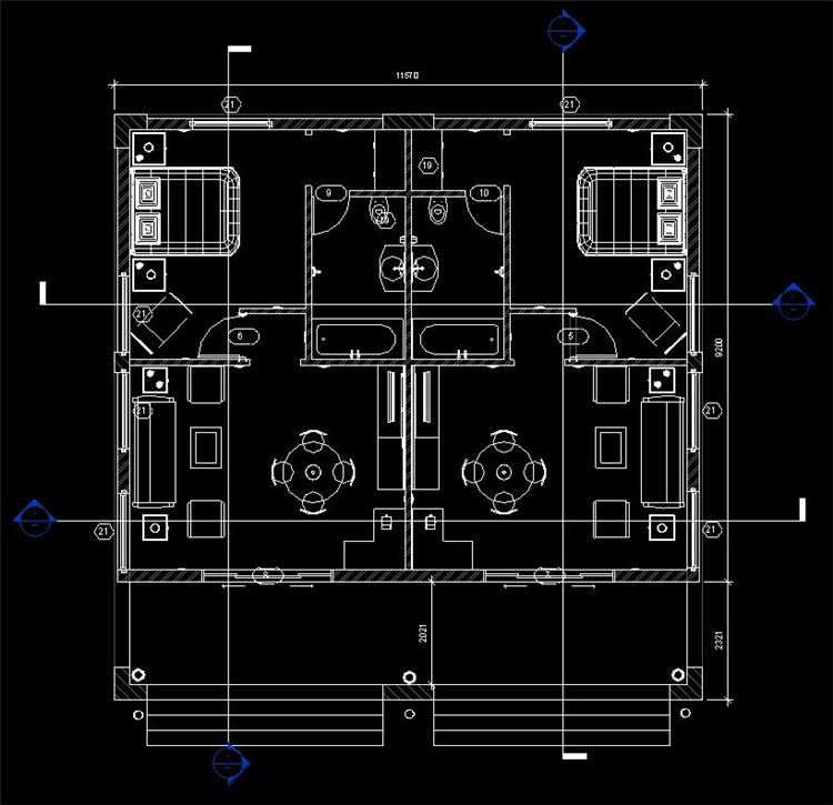 单层住房revit模型_6