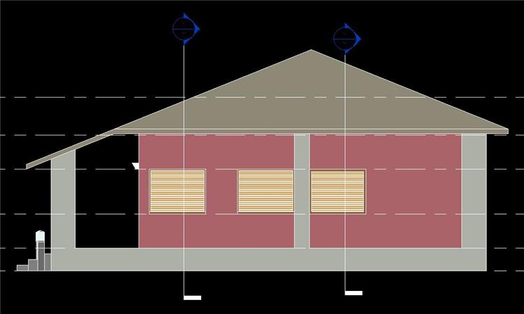 单层住房revit模型_7