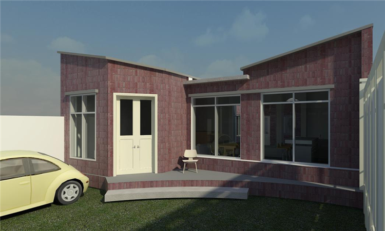 单层时尚别墅revit模型_1