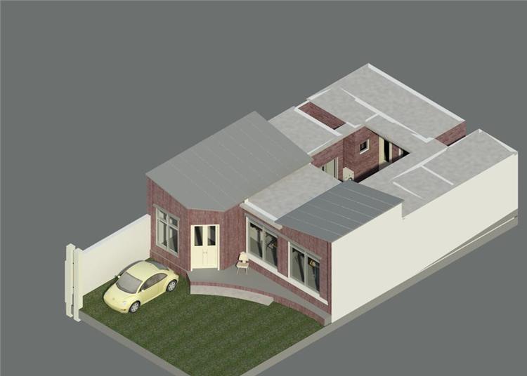 单层时尚别墅revit模型_2
