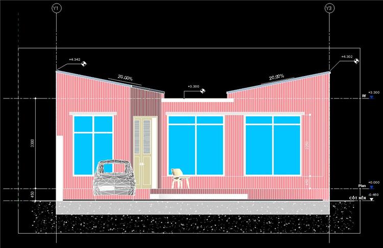 单层时尚别墅revit模型_6