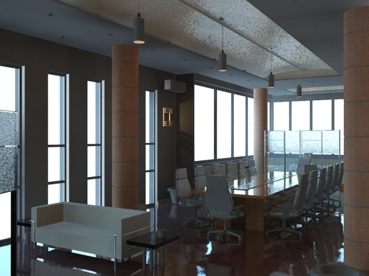 销售中心室内设计revit模型_1