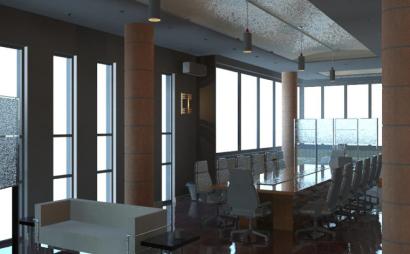 销售中心室内设计revit模型