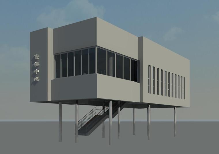 销售中心室内设计revit模型_2
