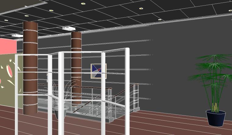 销售中心室内设计revit模型_3