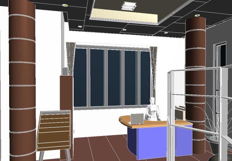 销售中心室内设计revit模型_4