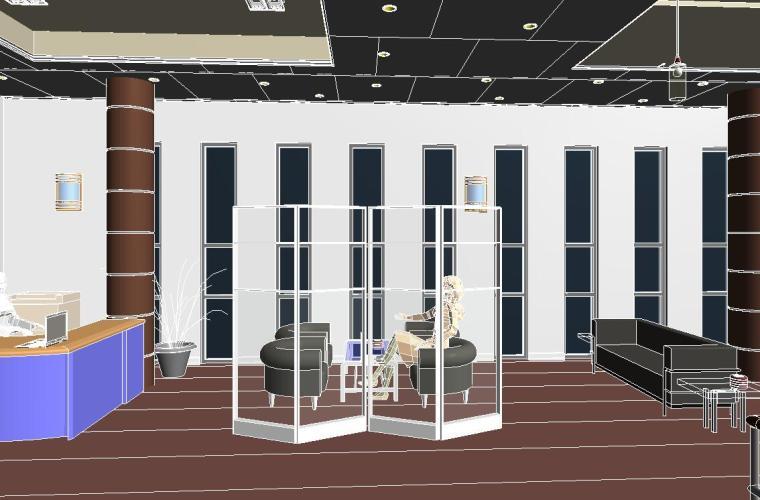 销售中心室内设计revit模型_5