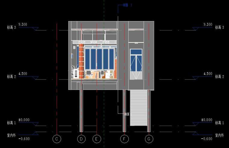 销售中心室内设计revit模型_6