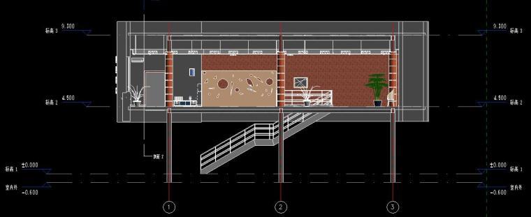 销售中心室内设计revit模型_7