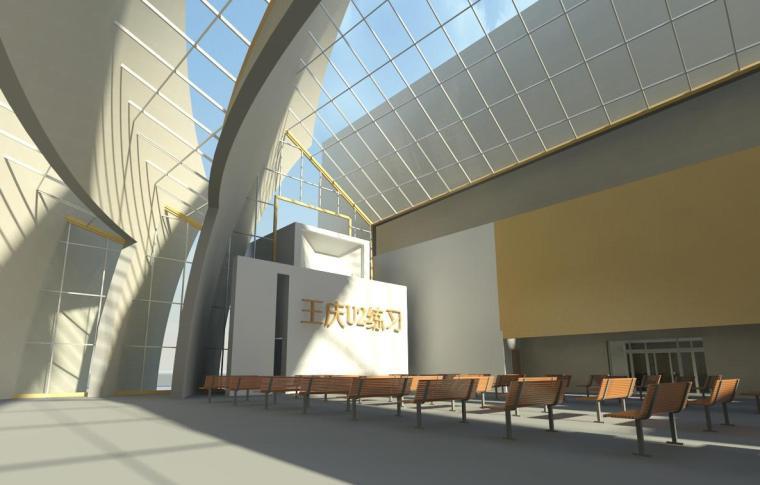 现代化大教堂revit模型_2