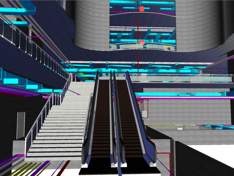 多层图书馆revit土建模型(含管综)_1