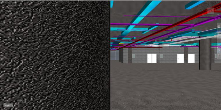 多层图书馆revit土建模型(含管综)_3