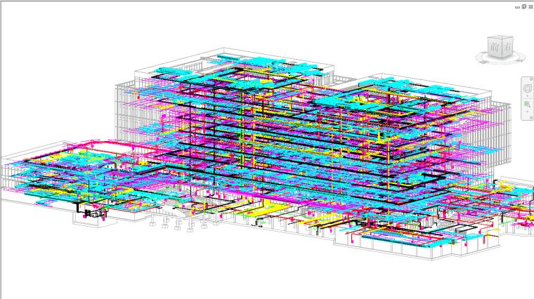 多层图书馆revit土建模型(含管综)_5